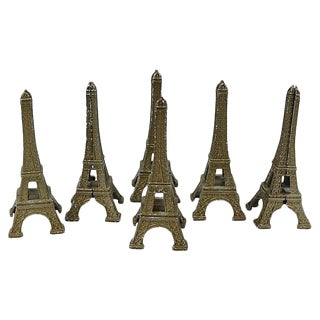 Vintage Eiffel Tower Placecard/Menu Holders - Set of 6 For Sale
