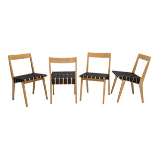 1940s Original Jens Risom Model 666 Chairs for Knoll - Set of 4 For Sale