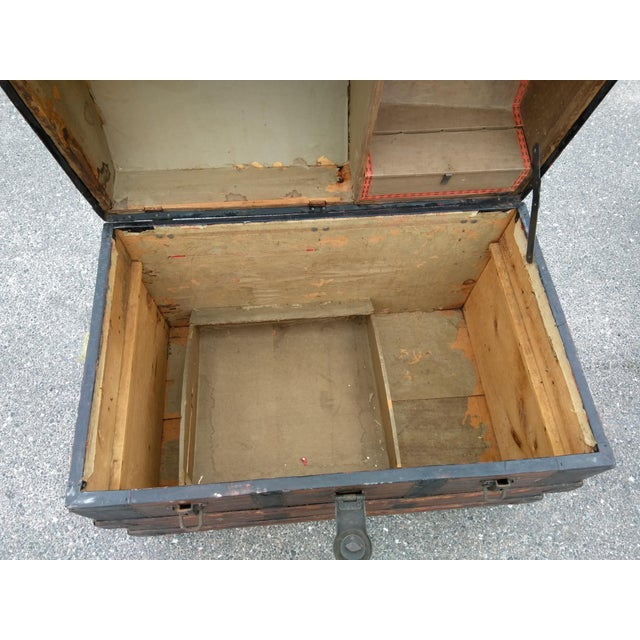 Late 19th Century 19th Century Gothic Travel Trunk For Sale - Image 5 of 7