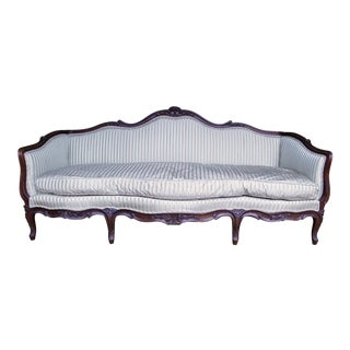 Italian Louis XV Style Walnut Sofa For Sale