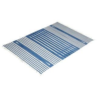 Peony Rug, 8x10, Blue & White