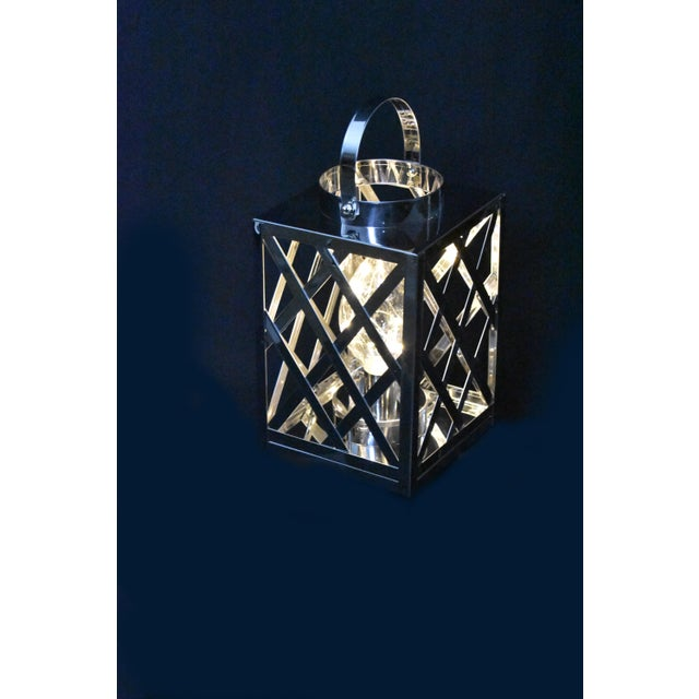 2010s Lantern Led Silver Cube For Sale - Image 5 of 6