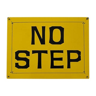 No Step Sign For Sale