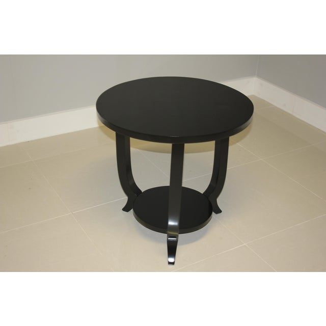 1940s 1940s French Art Deco Black Ebonized Coffee / Side Table For Sale - Image 5 of 13