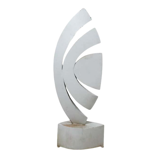 """Mid 20th Century """"The Leaf"""" Abstract Metal Sculpture by Homer Gunn For Sale"""
