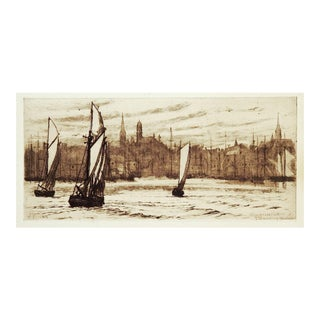 Glouchester Harbor Etching Print by Ellen Day Hale For Sale