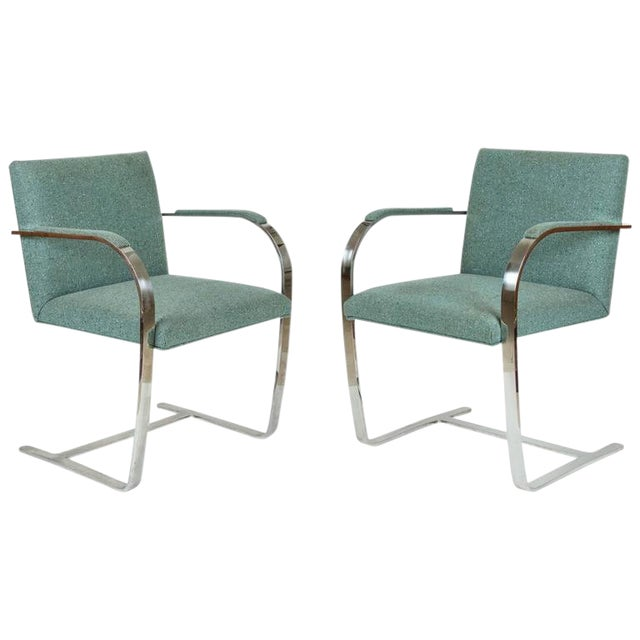 Superior Pair Of Mies Van Der Rohe Brno Chairs For Knoll Decaso