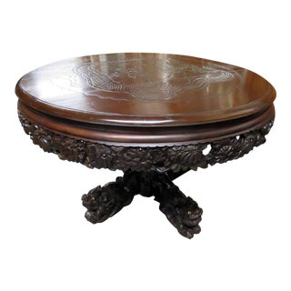 Carved Asian Center Table