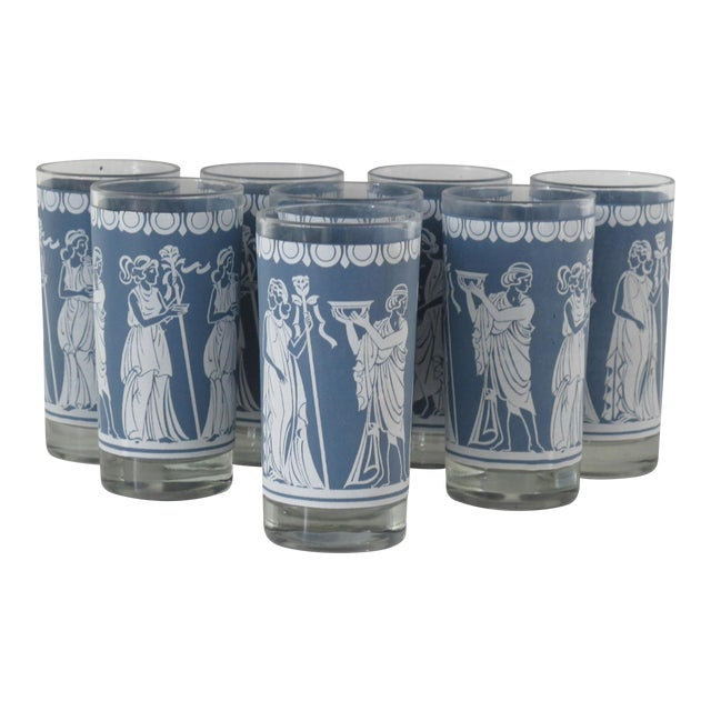 Highball Glasses w/ Grecian Motifs - Set of 8 - Image 1 of 5