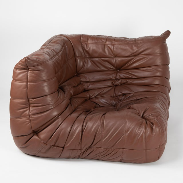 Leather Michel Ducaroy for Ligne Roset Corner Togo Chair For Sale - Image 7 of 13