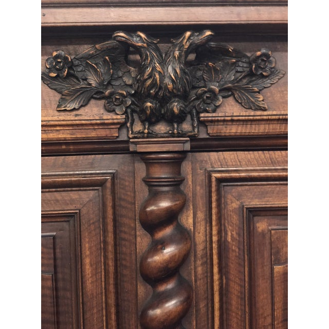 17th Century Louis XIII Double Headed Eagle Buffet Deux Corps For Sale - Image 5 of 7