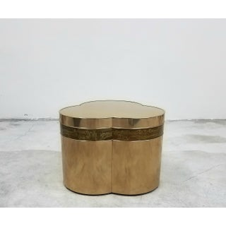 Bronze Trefoil Side or Coffee Table Base by Bernhard Rohne for Mastercraft Preview