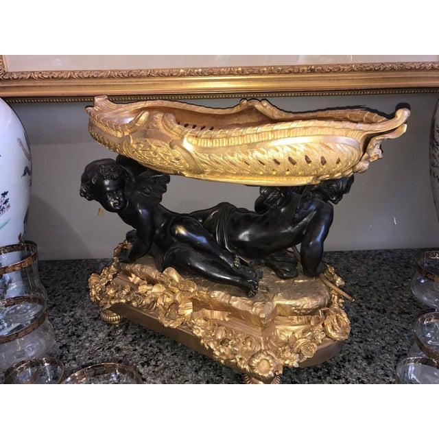 Classical Gilt Bronze Figural Putti Coupe Centerpiece - Image 2 of 8
