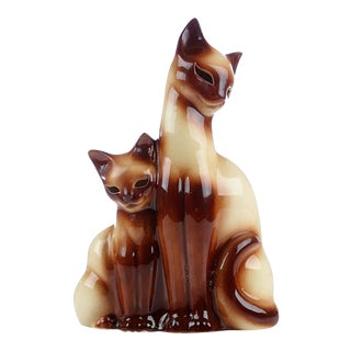 Mid-Century Modern Siamese Cat Tv Lamp For Sale