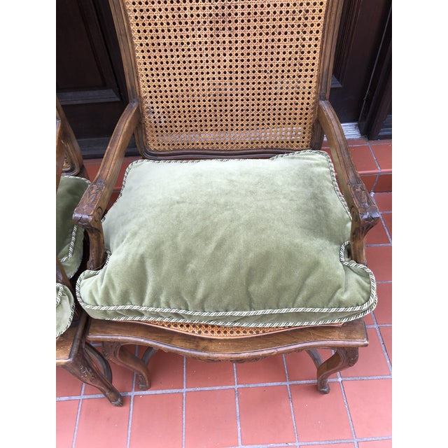 French Caned Chairs - a Pair For Sale - Image 4 of 12