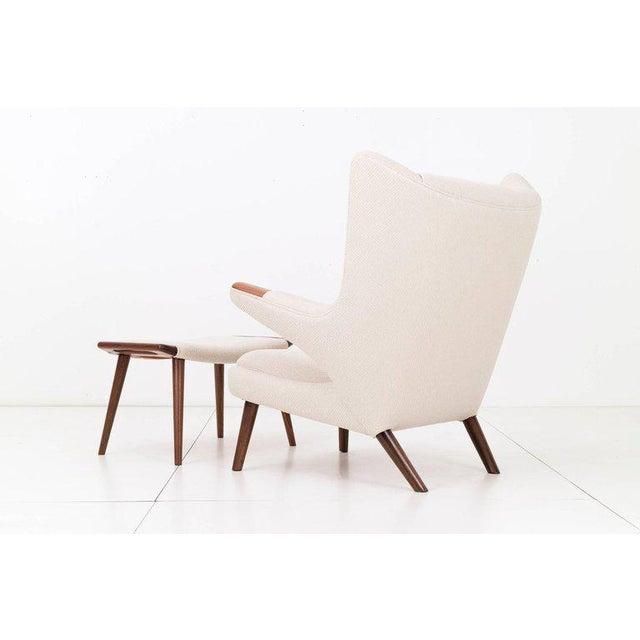 Hans J. Wegner Papa Bear Chair and Ottoman - Image 2 of 7