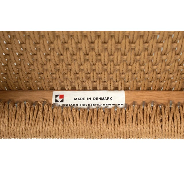 Wood Niels O. Møller Woven Seat & Beech Frame Bench For Sale - Image 7 of 7
