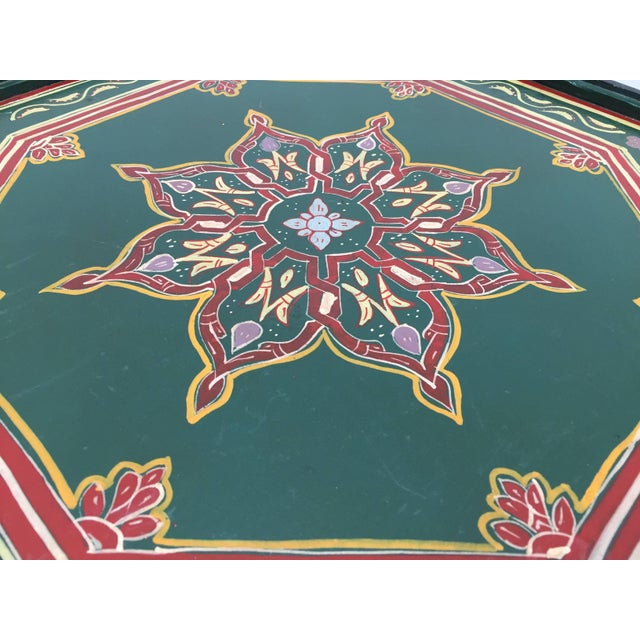 Moroccan Hand-Painted Table With Moorish Designs For Sale In Los Angeles - Image 6 of 12