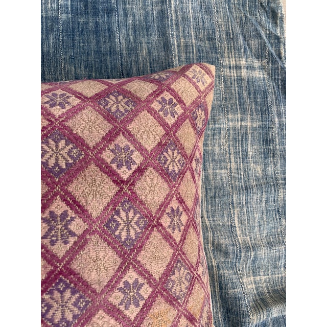 Tribal Antique Tribal Wedding Quilt Pillow For Sale - Image 3 of 9