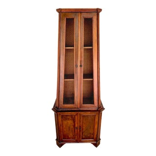 Antique Italian Neoclassical Olivewood Pyramidal Cabinet For Sale