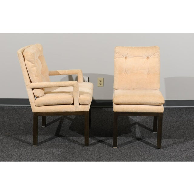 Sophisticated Set of 10 Brass Parsons Dining Chairs by John Stuart, Circa 1968 For Sale - Image 9 of 13