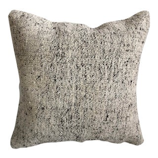 Antique Turkish White Handwoven Decorative Pillow For Sale