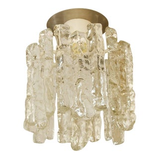 "Petite ""Sierra"" Ice Glass Flushmount by Kalmar Franken KG For Sale"