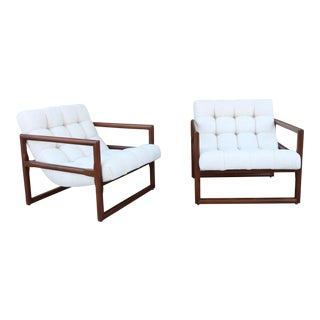 Milo Baughman for Thayer Coggin Pair of Scoop Lounge Chairs