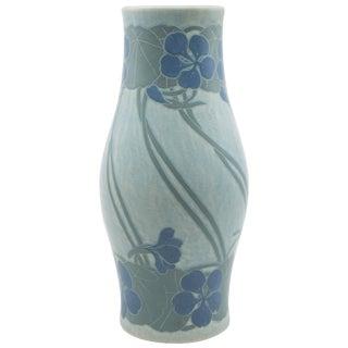 """Gustavsberg """"3"""" Color Scraffito Cut Back Vase by Josef Ekberg For Sale"""