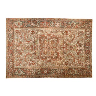"Vintage Distressed Mehrivan Carpet - 6'3"" X 9'1"" For Sale"