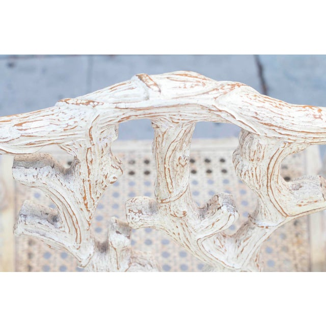 Decorative Branch Faux-Bois Chairs - Set of 4 - Image 4 of 10