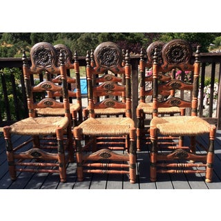 Antique Chairs From Catalonia - Set of 6 Preview