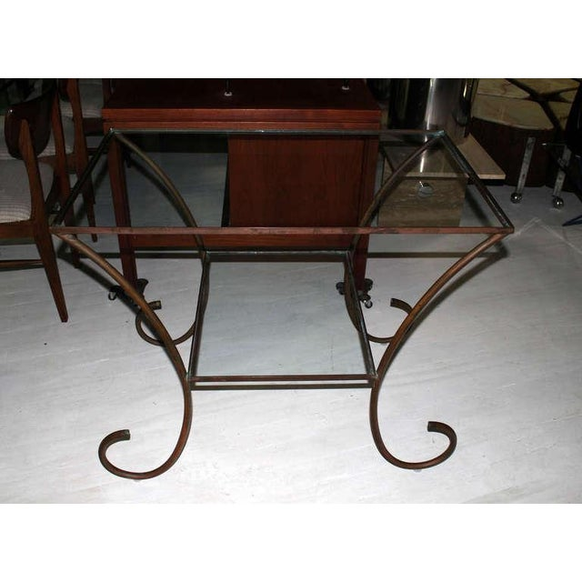 Deco Style Solid Brass Serving Console Hall Table circa 1930s For Sale - Image 4 of 7