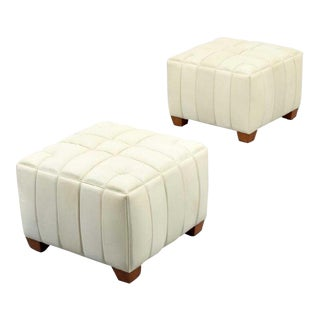 Vintage Mid Century Rose Tarlow Innes Ottomans- A Pair For Sale
