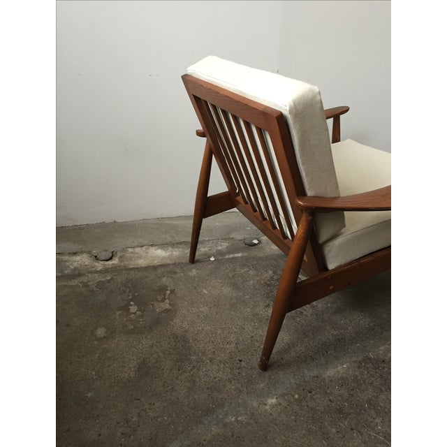 Oak Mid-Century Armchair-Single Chair - Image 11 of 11
