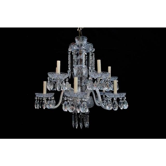 Art Deco Crystal Chandelier For Sale - Image 4 of 6