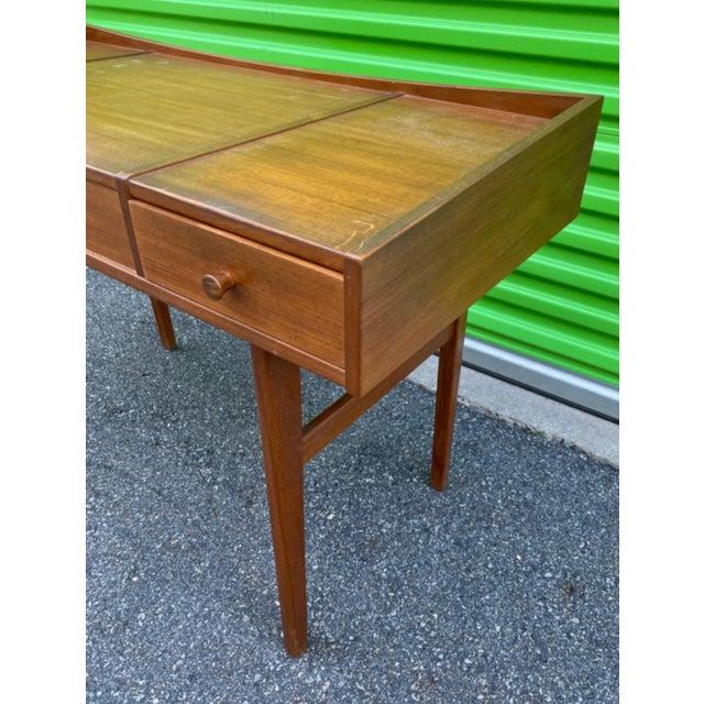 Danish Mid-Century Modern Teak Vanity Dressing Table For Sale - Image 4 of 8
