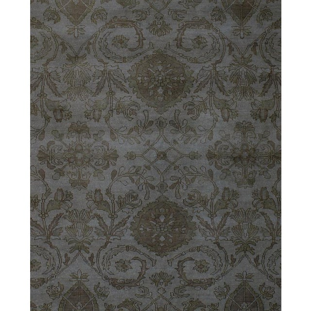 Contemporary Over Dyed Color Reform Oretha GrayWool Rug - 8'2 X 10'0 A1435 For Sale - Image 3 of 7