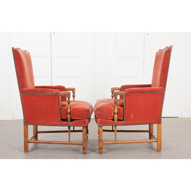 Federal 19th Century French Provincial Walnut Fauteuils - a Pair For Sale - Image 3 of 10