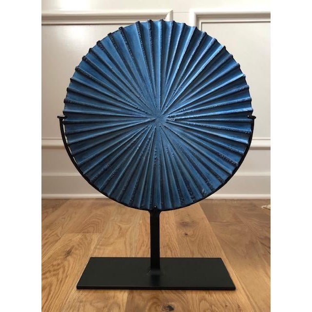 2020s Modern Blue Steel Burst Sculpture For Sale - Image 5 of 5