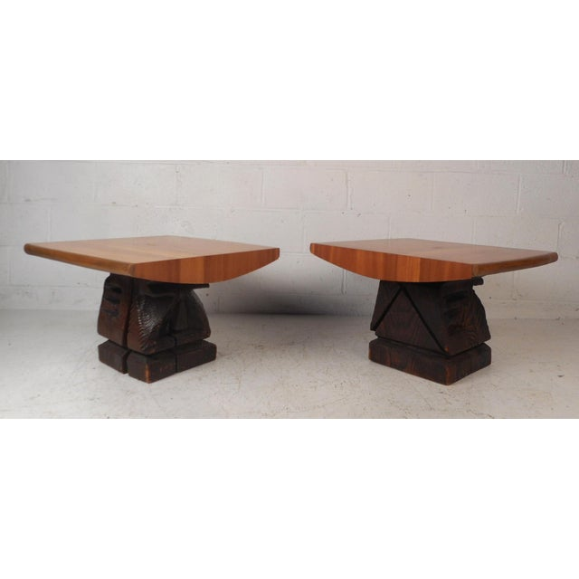 Pair of Midcentury Totem End Tables by Witco For Sale - Image 13 of 13