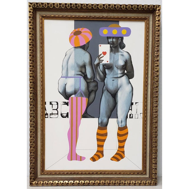 Arne Besser (American, B.1935) Two Hearts Original Oil Painting C.1970 For Sale - Image 11 of 11