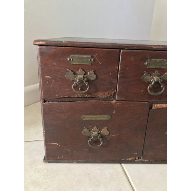This is a very old ca 1800's maybe even older Chippendale Card File Cabinet  Trunk with - Antique 18th Chippendale Card File Cabinet Trunk Chairish