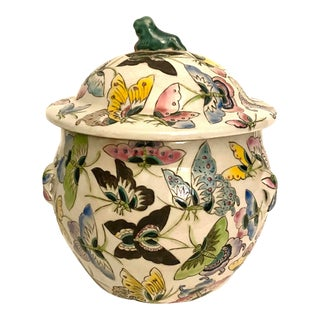 Chinese Butterfly Ginger Jar For Sale