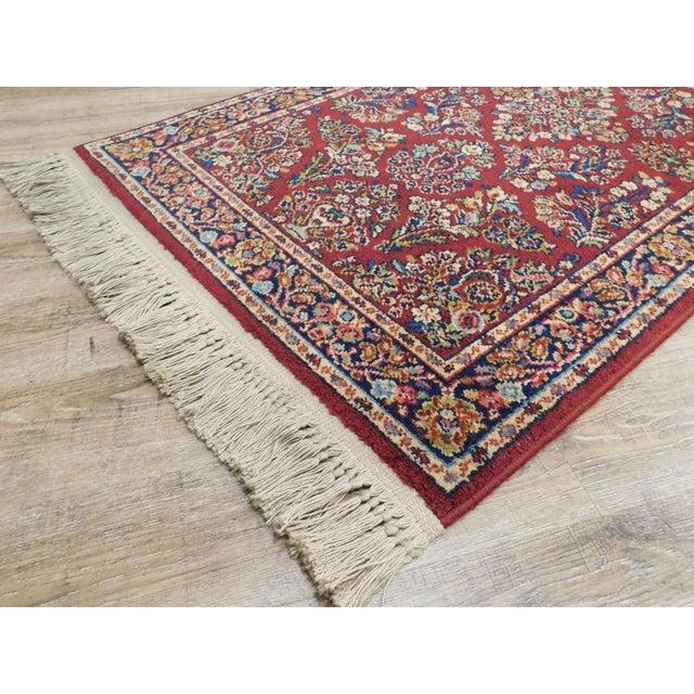 Karastan Red Sarouk #785 Rug 5' x 2' Multicolor Area Throw Rug For Sale - Image 4 of 13