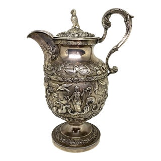"1830 ""The Daniel Webster Silver Wine Pitcher"" S. Kirk C. For Sale"