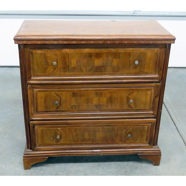 Brown 20th Century Italian Inlaid Commode For Sale - Image 8 of 8