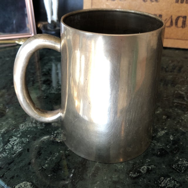 Metal 1950s Solid Brass Artist Cup For Sale - Image 7 of 7