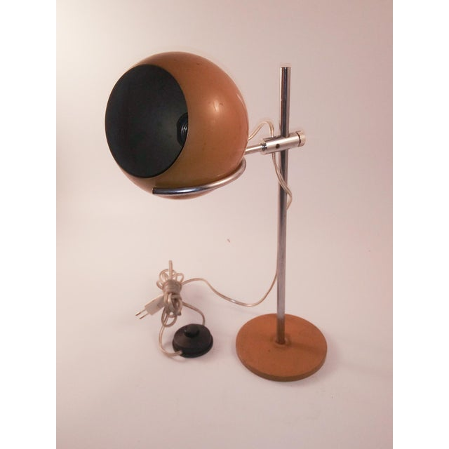 Mid-Century Chrome and Enamel Desk Lamp For Sale - Image 11 of 11