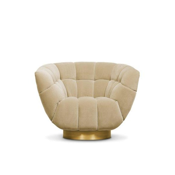 Not Yet Made - Made To Order Essex Swivel Chair From Covet Paris For Sale - Image 5 of 5
